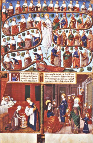 L'arbre de Jessé, d'où est issu le Christ