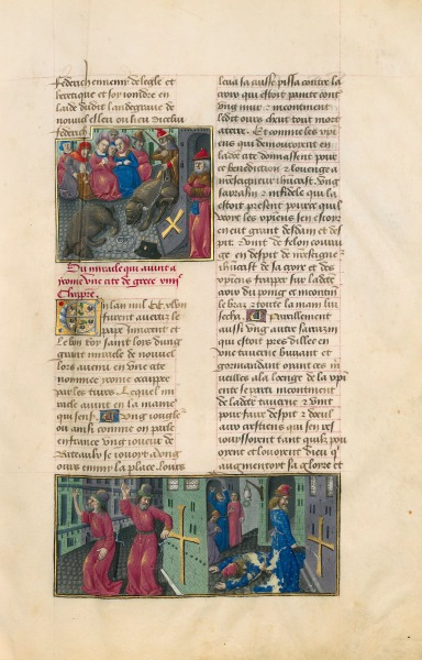 Guillaume de Saint-Pathus, V<em>ie et miracles de Saint Louis</em>, France (Paris), fin du XVe siècle<br /> Paris, BnF, département des Manuscrits