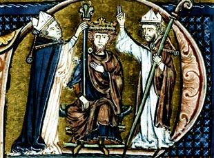 Erzbischof Dagobert von Pisa Kkrönt Balduin I. von Jerusalem